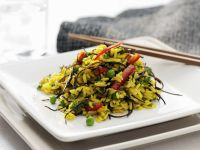 Vegetable Rice Salad with Seaweed recipe
