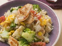 Vegetable Rice with Chicken recipe