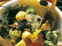 Vegetable Salad with Baked Potatoes recipe