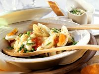 Vegetable Salad with Jerusalem Artichokes and Egg recipe