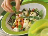 Vegetable Salad with Monkfish recipe