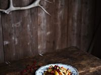 Vegetable Salad with Pistachios and Fresh Cranberries recipe
