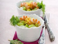 Vegetable Salad with Shrimp and Fennel recipe