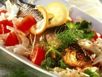 Vegetable Salad with Smoked Fish recipe