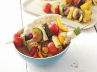 Vegetable Skewers with Pita Bread recipe