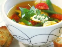 Vegetable Soup with Aioli recipe