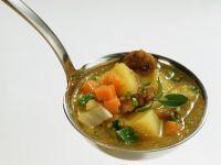Vegetable Soup with Bratwurst recipe