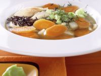 Vegetable Soup with Chicken and Wild Rice recipe