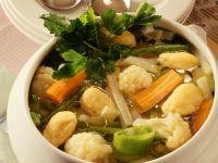 Vegetable Soup with Dumplings recipe