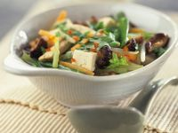 Vegetable Soup with Glass Noodles and Tofu recipe
