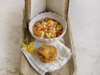 Vegetable Soup with Potato Pancakes recipe