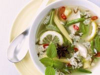 Vegetable Soup with Rice and Lemon recipe