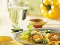 Vegetable Soup with Semolina Dumplings recipe