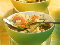 Vegetable Soup with Shrimp recipe