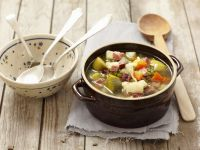 Vegetable Soup with Smoked Pancetta recipe