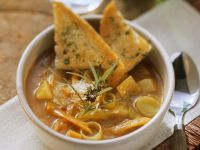 Vegetable Soup with Toast recipe