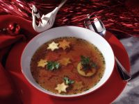 Vegetable Soup with Zucchini and Carrots Stars recipe