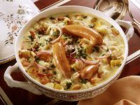 Vegetable Stew with Potatoes, Kohlrabi and Onions in Creamy Sauce recipe