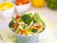 Vegetable Stir-fry with Sesame and Rice recipe