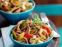 Vegetable, Tofu and Noodle Stir-fry recipe