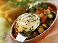 Vegetables with Baked Goat Cheese recipe