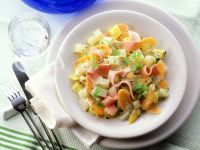 Vegetables with Bechamel Sauce and Ham recipe