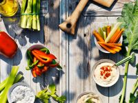 Vegetables with Four Dips recipe