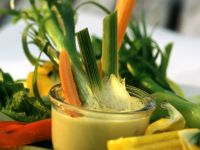 Vegetables with Homemade Citrus Mayonnaise Dip recipe