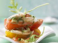 Vegetables with Mozzarella and Gazpacho