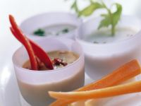 Vegetables with Three Dips recipe