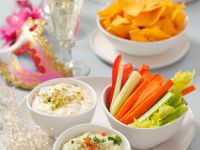Vegetables with Various Dips recipe