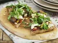 Vegetarian Flatbread Pizza Slices recipe