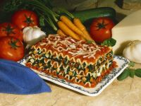 Vegetarian Lasagna with Spinach and Carrots recipe