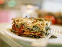 Vegetarian Lasagna with Tomatoes and Spinach recipe