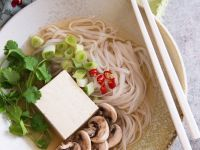 Vegetarian Rice Noodle Soup with Tofu recipe