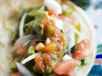 Vegetarian Tacos with Spicy Sauce recipe