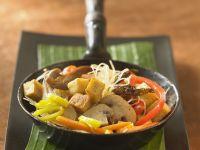 Vegetarian Tofu Stir-fry with Cellophane Noodle recipe