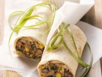 Veggie Bean and Corn Burrito recipe