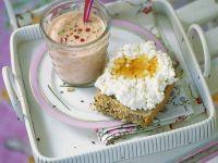 Veggie Kefir with Cottage Cheese Tartines recipe