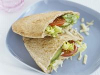 Veggie Pita Pocket Sandwich recipe