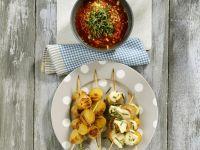 Veggie Skewers with Dip recipe