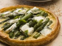 Veggie Spear and Soft Cheese Pie recipe