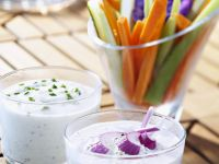 Veggie Sticks with Dip recipe