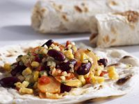 Veggie Wraps with Beans and Corn recipe