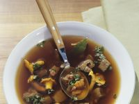 Venison and Wild Mushroom Soup with Bacon recipe
