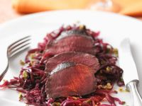 Venison Fillet on Red Cabbage recipe