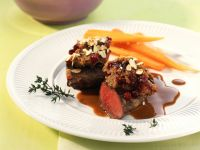 Venison Fillet with Cranberry and Chestnut Crust recipe