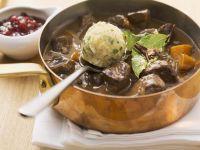 Venison Goulash with Dumplings recipe