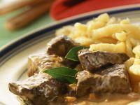 Venison Goulash with Spaetzle recipe