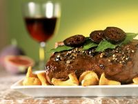 Venison Saddle with Mushrooms recipe
